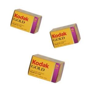 Pack de 3 Kodak Gold200 135-36 poses Grands Boulevards