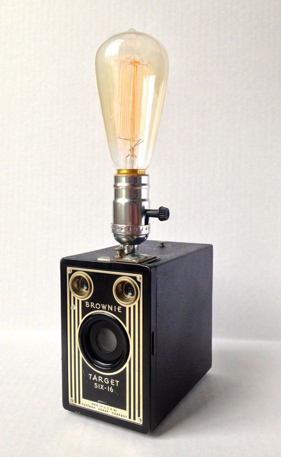 Lampe DIY app photo vintage Kodak Express Paris 2