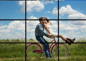 Couple à vélo campagne Paris Kodak Express