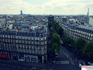Grands Boulevards vus de haut Kodak Express Paris 2