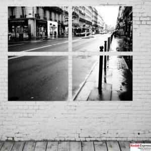 Mur blanc déco noir et blanc Kodak express