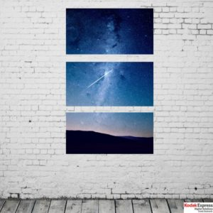 Mur blanc photo verticale Kodak Express Paris