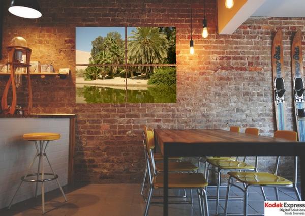 Panneau De Montage Photo Sur Mur De Brique Rouge Cuisine Kodak